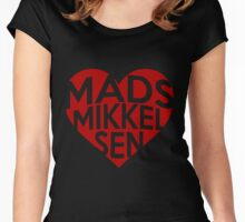 Valentine - Mads Mikkelsen Women's Fitted Scoop T-Shirt