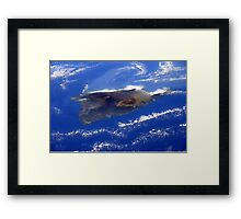 Island of Hawaii From the International Space Station Framed Print