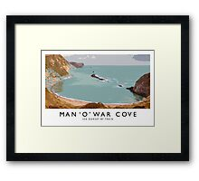 Man 'O' War Cove (Railway Poster) Framed Print