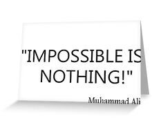 Impossible? Greeting Card