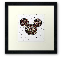Abstract Mickey Framed Print
