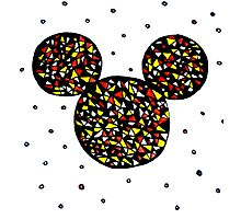 Abstract Mickey Photographic Print
