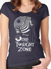 Twilight Zone Eye Women's Fitted Scoop T-Shirt