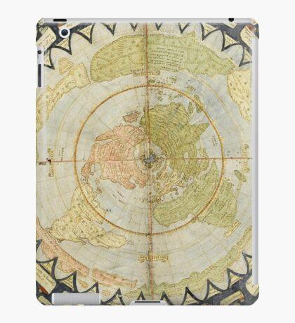 Flat Earth old map iPad Case/Skin