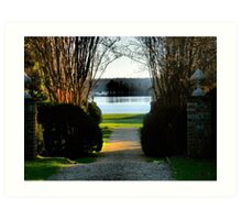 James River and the Berkeley Plantation Art Print
