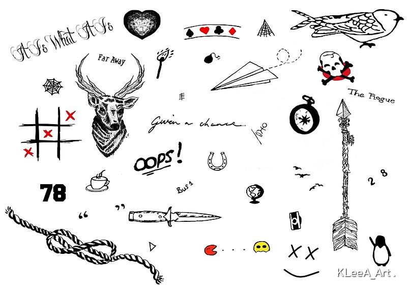 """Louis Tomlinson Tattoos (2016 updated)"""" Art Prints by Kelsie Anderson ..."""