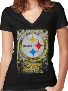 Steal Your 3 Rivers Women's Fitted V-Neck T-Shirt
