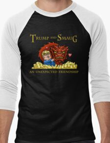 Trump and Smaug: An Unexpected Friendship Men's Baseball ¾ T-Shirt