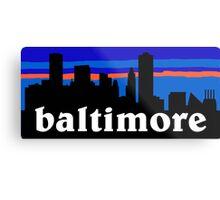 Baltimore, skyline silhouette Metal Print