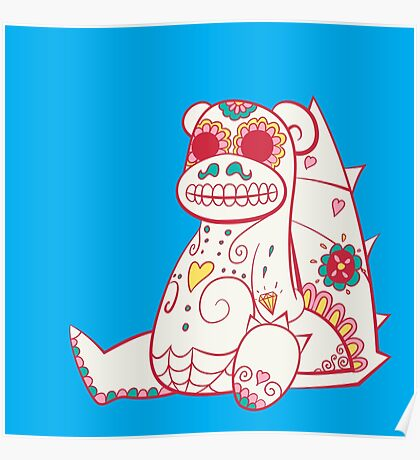 Slowbro Pokemuerto | Pokemon & Day of The Dead Mashup Poster