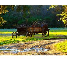 Berkeley Plantation~Cart Photographic Print