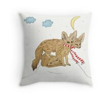 Fennec Is Sleeping On The Hill Throw Pillow
