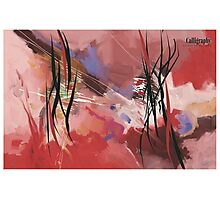 Calligraphy, abstract expressionism Photographic Print