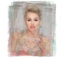 Miley Cyrus Portrait Photographic Print