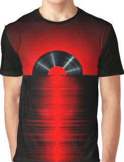 Vinyl sunset red Graphic T-Shirt