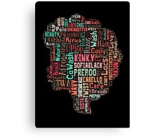 Afro Hair Care - Natural Team Canvas Print