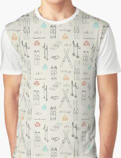 retro skis Graphic T-Shirt