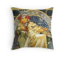 Alfons Mucha Princess Hyacinth Throw Pillow