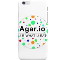 Agar.io U R WHAT U EAT (circle) iPhone Case/Skin