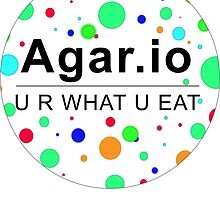 Agar.io U R WHAT U EAT (circle) by DesignMil