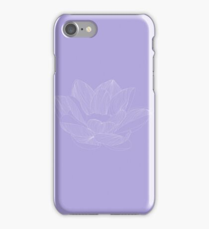 lotus flower lineart iPhone Case/Skin