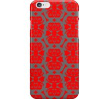 Audrey Gray Red Pattern iPhone Case/Skin
