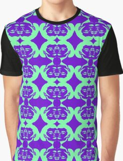 Audrey Green Violet Pattern Graphic T-Shirt