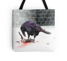 Crow, Bloody Snow Tote Bag