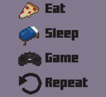 Eat, Sleep, Game, Repeat! 8bit Kids Tee