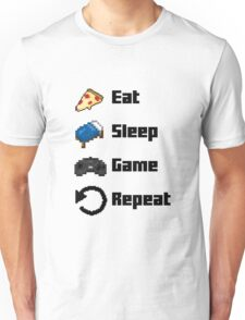 Eat, Sleep, Game, Repeat! 8bit Unisex T-Shirt