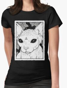 Occult Cat Womens Fitted T-Shirt