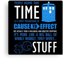 Doctor Who Time Quotes Canvas Print