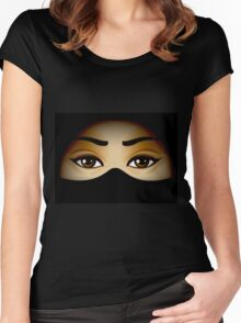 Arabic Eyes Women's Fitted Scoop T-Shirt