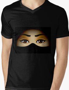 Arabic Eyes Mens V-Neck T-Shirt