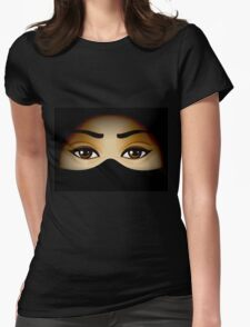 Arabic Eyes Womens Fitted T-Shirt