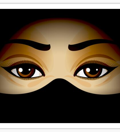 Arabic Eyes Sticker