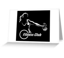 Fitness or Training Emblem  Greeting Card
