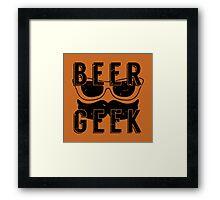 Beer Geek - Vintage Style Beer Poster Framed Print