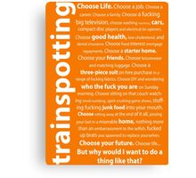 Trainspotting Quotes Canvas Print