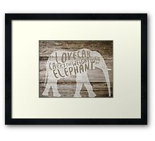 The Weight of an Elephant Framed Print