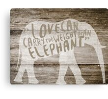 The Weight of an Elephant Canvas Print
