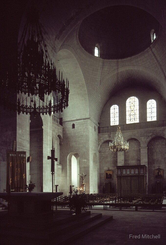 Altar and south transept Perigueux Cathedral 19840226 0025  by Fred Mitchell