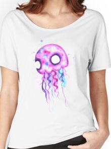 Jellyfish Watercolor Women's Relaxed Fit T-Shirt