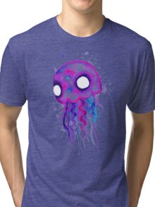 Jellyfish Watercolor Tri-blend T-Shirt