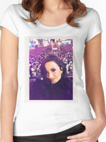 Demi's selfie at #RockinEve Women's Fitted Scoop T-Shirt