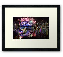 Sydney NYE Fireworks 2015 # 13 Framed Print