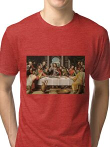 The Last Supper (Ultima Cena) by Joan de Joanes (c. 1562) Tri-blend T-Shirt