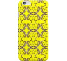 Audrey Gold Yellow Pattern iPhone Case/Skin