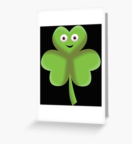 Clover Face Greeting Card