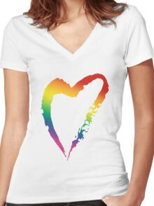 Gay Pride #LoveWins Women's Fitted V-Neck T-Shirt